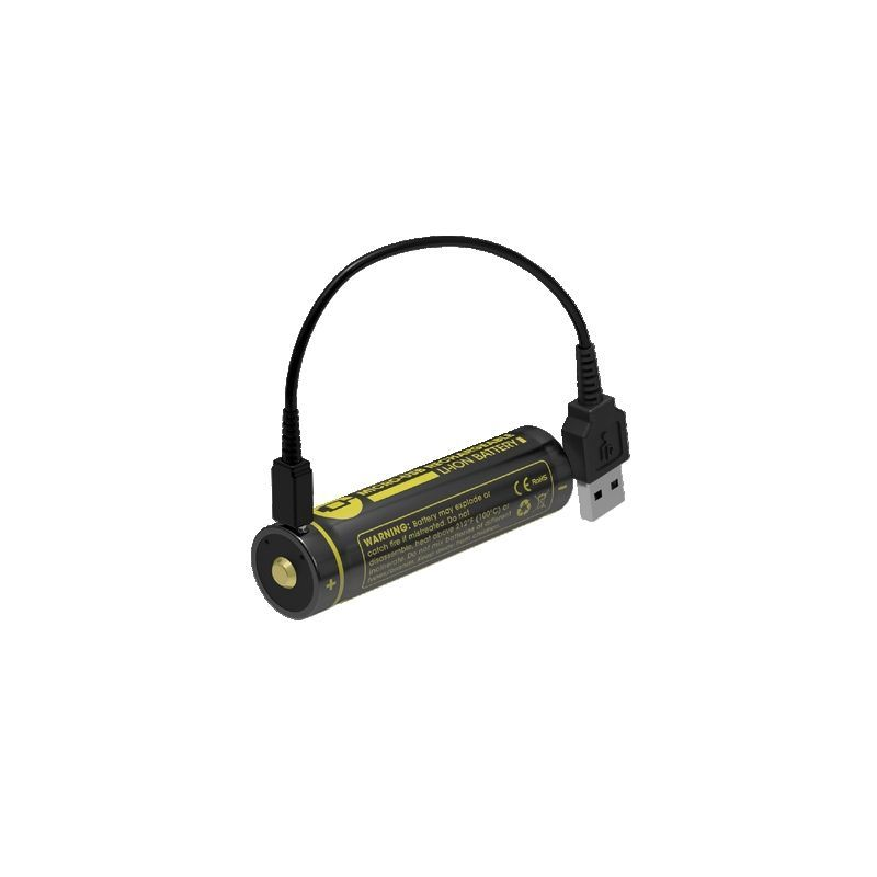 Nitecore | Micro USB 18650 Li-ion battery (2600mah)